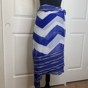 Blue and white   Beach Cover up   Sarong   Scarf